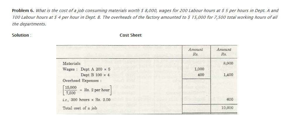 Test Questions – Job Costing 7