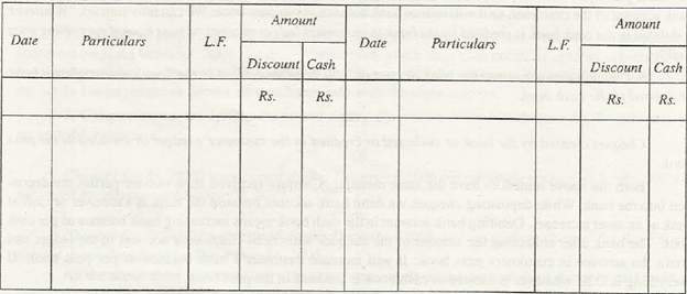 Cash Book with Discount Column 1