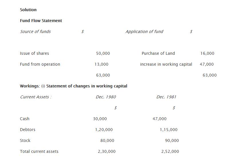 how to prepare fund flow statement