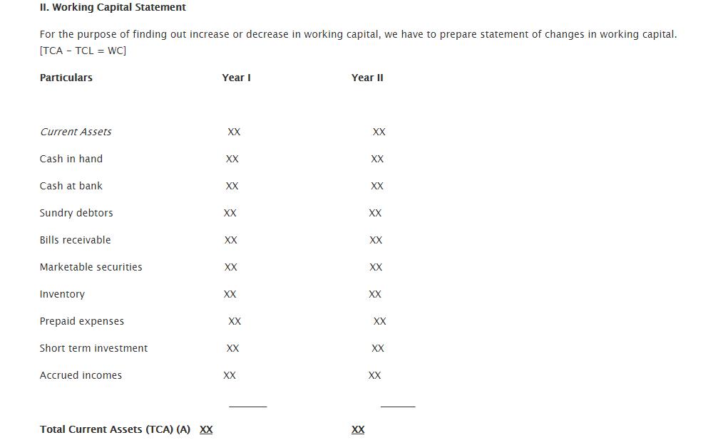Steps in Preparation of Fund Flow Statement 2