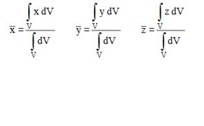 """Centroid of Volumes"""" = C"""