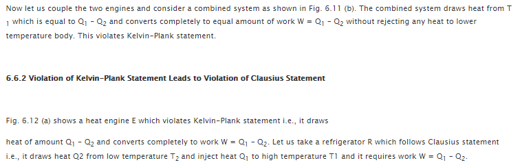 Equivalence of Kelvin-Plank and Clausius Statements 3