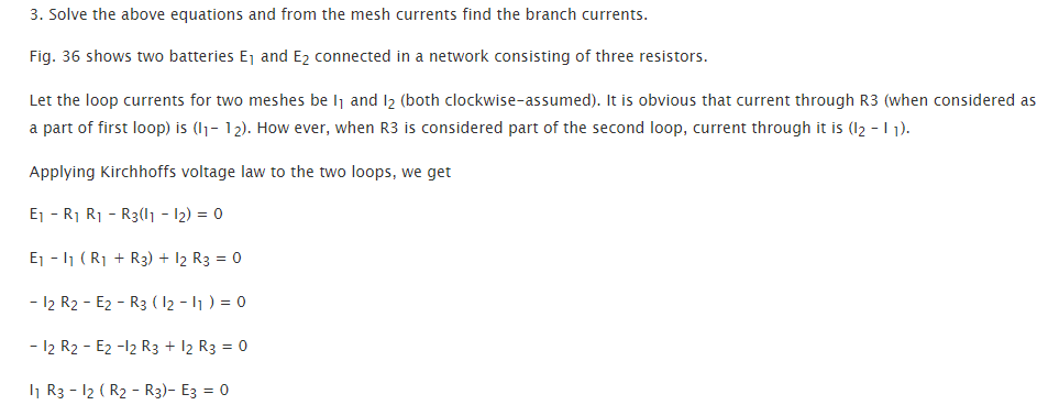 Applications of Kirchhoff's Laws, Branch-current method, Maxwell's