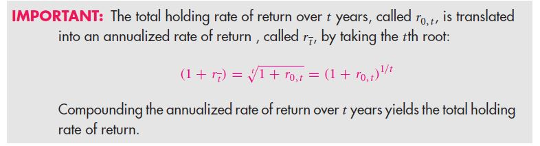 Working with Time-Varying Rates of Return 5