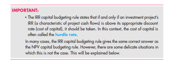 The Internal Rate of Return (IRR) 26