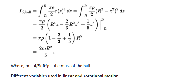 moment of inertia homework3