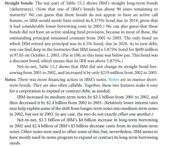 Tracking IBM's Capital Structure from 2001 to 2003 14