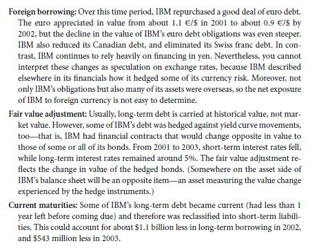 Tracking IBM's Capital Structure from 2001 to 2003 16