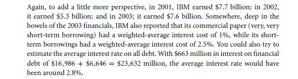 Tracking IBM's Capital Structure from 2001 to 2003 21