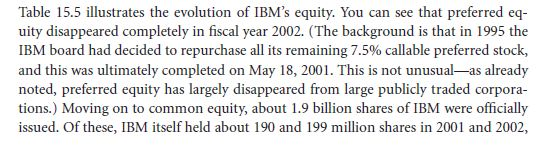 Tracking IBM's Capital Structure from 2001 to 2003 22