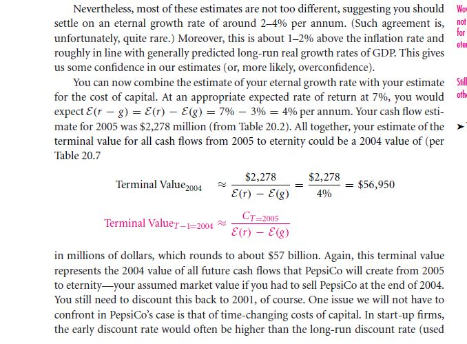 The Terminal Value 25