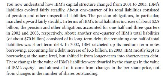 Tracking IBM's Capital Structure from 2001 to 2003 26