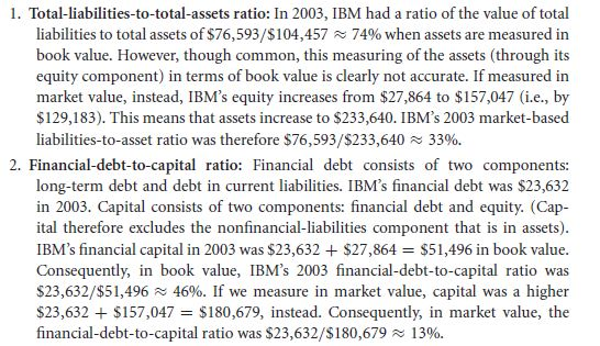 Tracking IBM's Capital Structure from 2001 to 2003 27