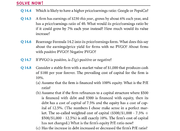The Price/Earnings (P/E) Ratio 17