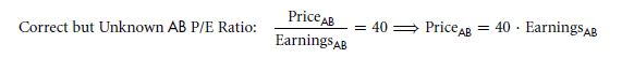 Problems with Price/Earnings Ratios 39