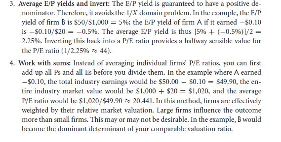 Problems with Price/Earnings Ratios 45