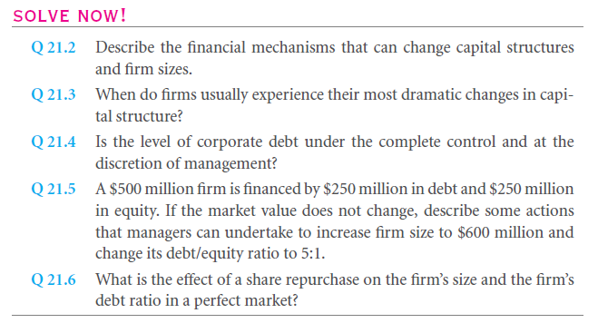 Capital Structure and Firm Scale 4