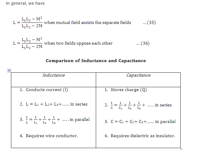Inductances in Parallel