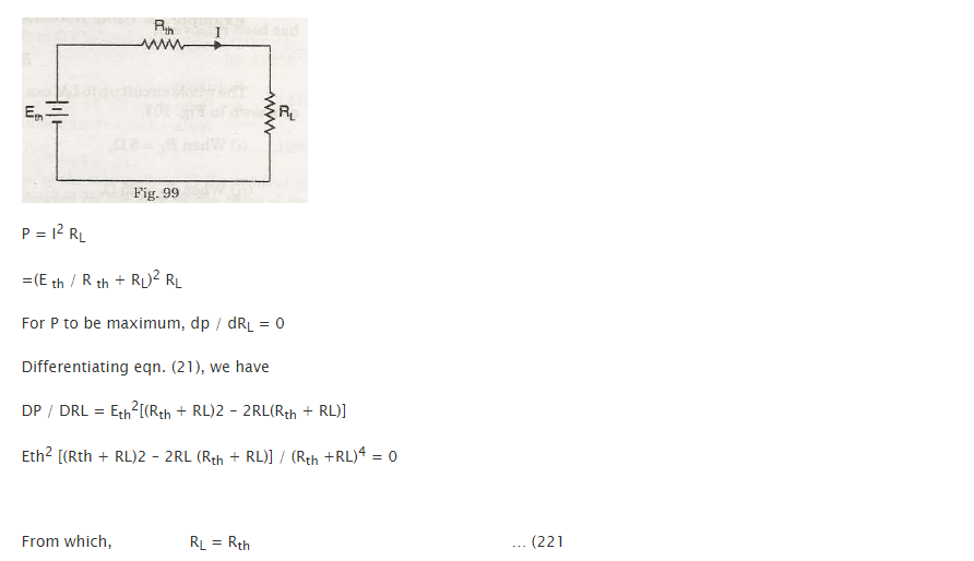 Maximum Power Transfer Theorem 1