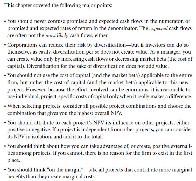 An NPV Checklist 11