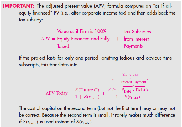 Formulaic Valuation Methods: APV and WACC 19