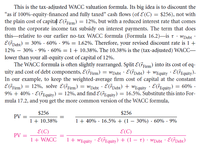 Formulaic Valuation Methods: APV and WACC 25