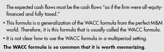Formulaic Valuation Methods: APV and WACC 28