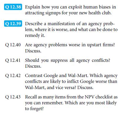 An NPV Checklist 29