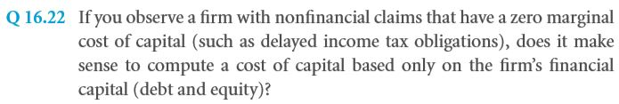 Nonfinancial and Operational Liabilities and the Marginal Cost of Capital 56