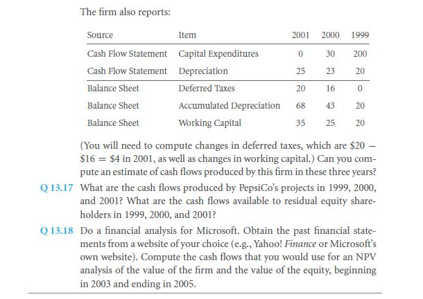 Extracting Economic Cash Flow from PepsiCo's Financials 43