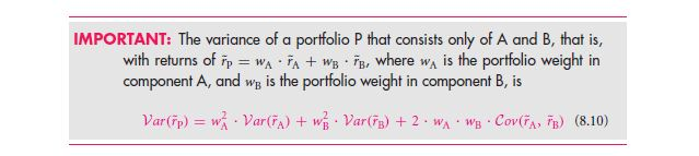 A Shortcut Formula for the Risk of a Portfolio 64