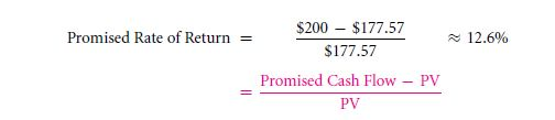 The CAPM Cost of Capital in the Present Value Formula 12