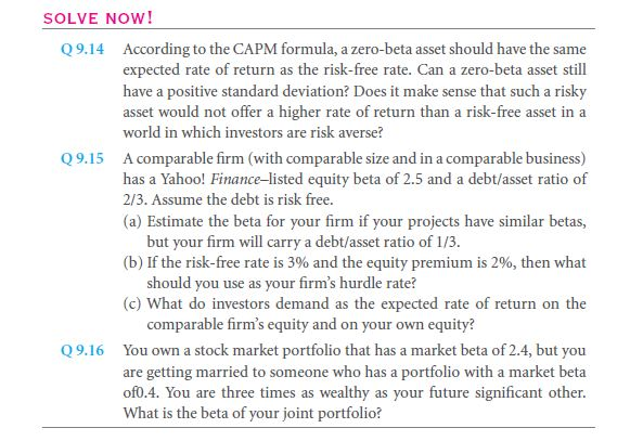 Estimating the CAPM Inputs 23