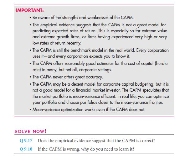 Empirical Evidence: Is the CAPM the Right Model? 28
