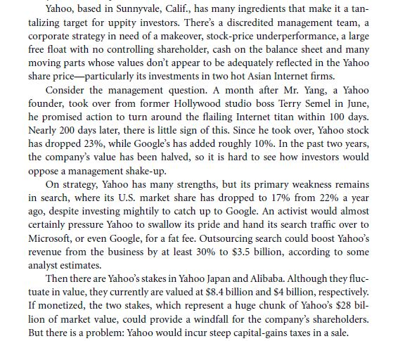 Mergers & Acquisitions (M & A) From the Firm's Perspective 34