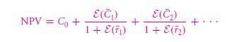 The CAPM Cost of Capital in the Present Value Formula 7