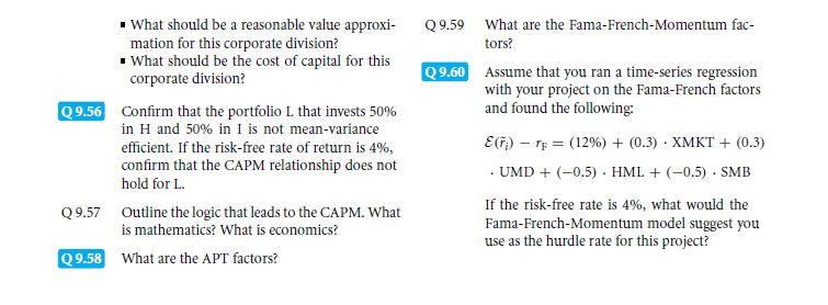 Theory: CAPM Alternatives!? 89