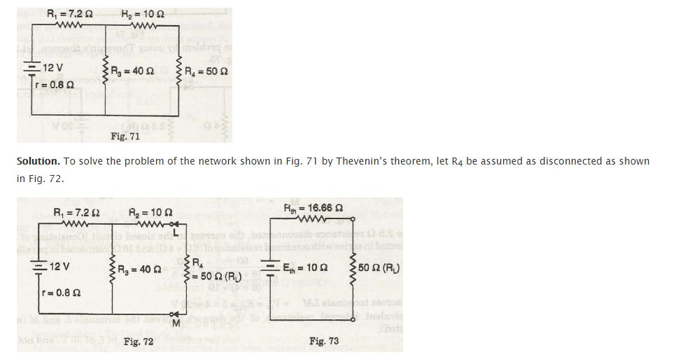 Thevenin's theorem 4