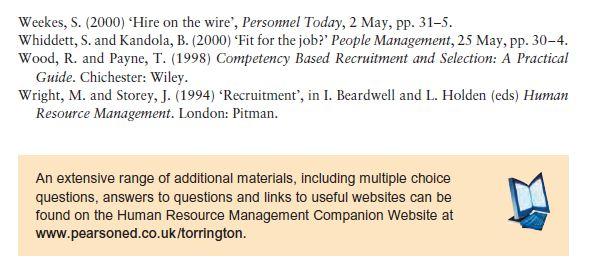 General Discussion Topics in Recruitment 16