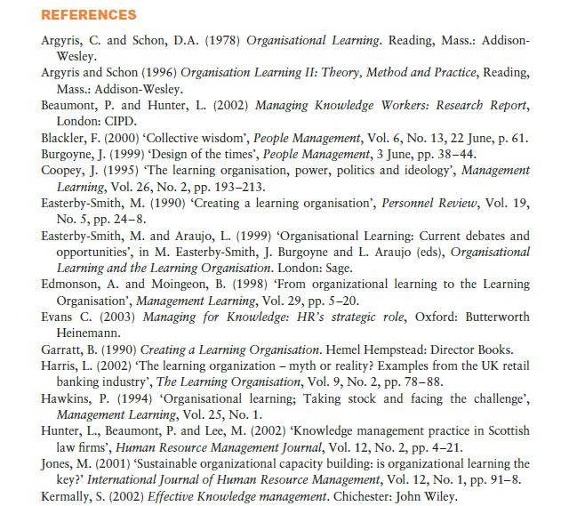 Managing Knowledge 13