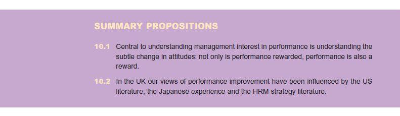 Major Performance Initiatives 10