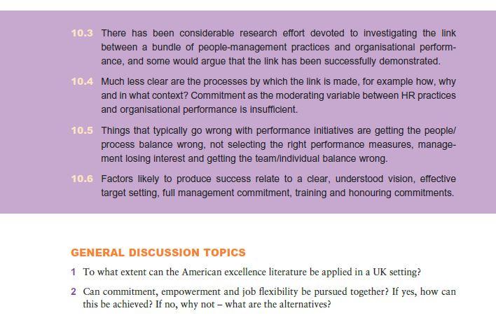 Major Performance Initiatives 11