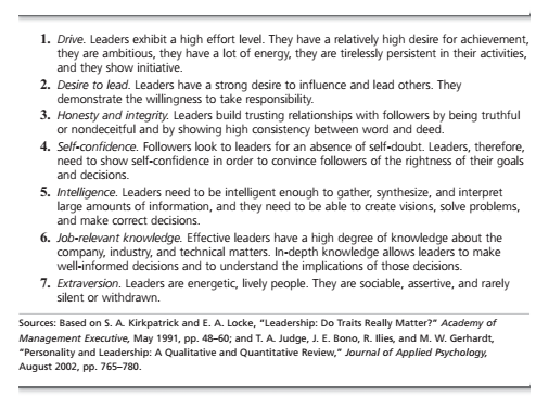 Early Leadership Theories 1