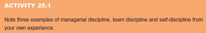 What Do We Mean by Discipline? 18