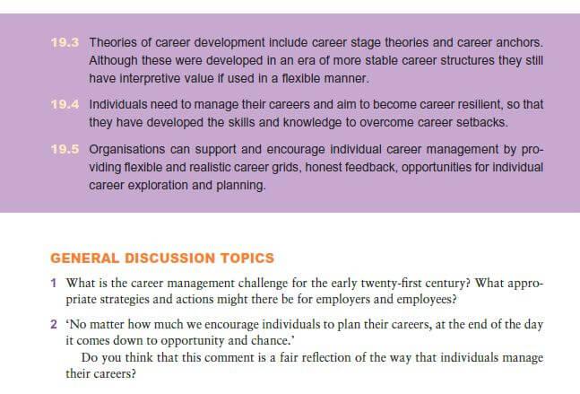 Support for Career Development 10