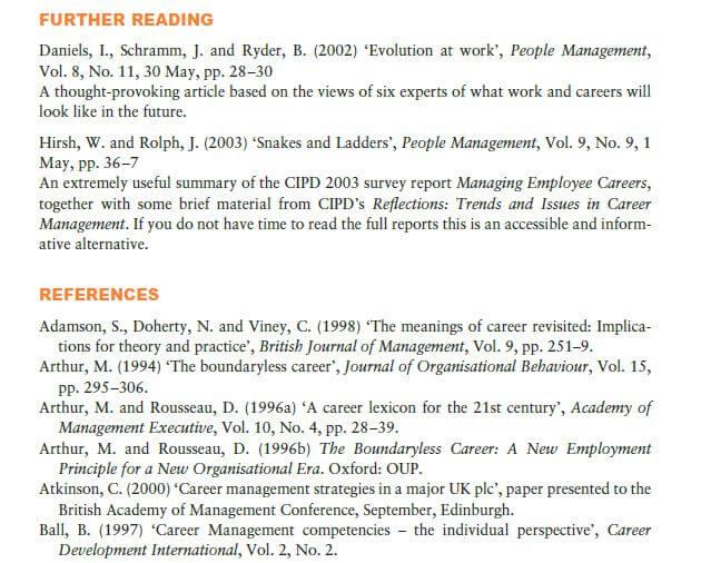 Support for Career Development 11