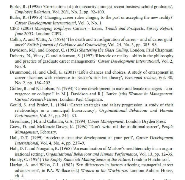Support for Career Development 12