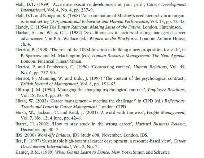 Support for Career Development 13