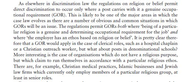 Discrimination on Grounds of Religion or Belief 16