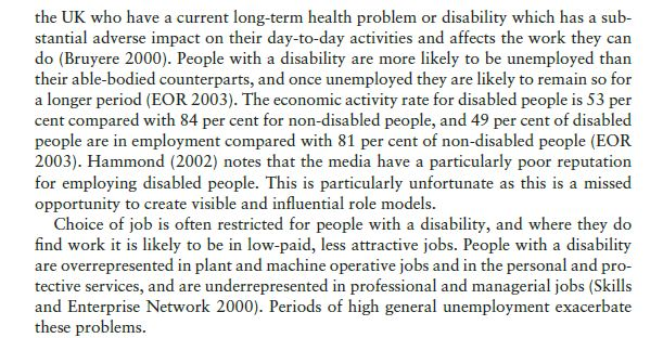 Current Employment Experiences of Socially Defined Minority Groups 9